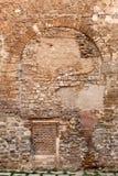 砖和石墙在巴塞罗那 免版税库存照片