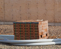 砖和输送管道 库存图片