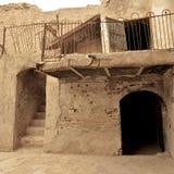 砖和黏土大厦在埃尔比勒城堡,库尔德斯坦,伊拉克 库存照片