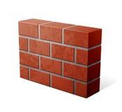 砖图标墙壁 免版税库存照片