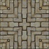 砖土气马赛克的模式 免版税图库摄影