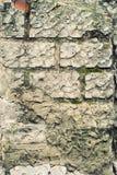砖在建筑放置的块墙壁 免版税库存照片