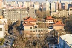 砖地在北京,中国 免版税库存照片