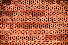 砖块在住宅建设站点 免版税库存图片