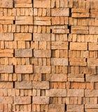 砖块堆样式和纹理  免版税库存图片