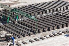 砖块工厂生产 库存图片