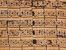 砖块被构造的单位背景 免版税图库摄影