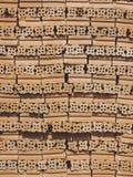 砖块被构造的单位背景 库存图片