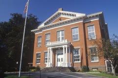 砖城镇厅,了不起的巴林顿, MA 免版税库存照片