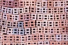 砖堆背景 免版税库存照片