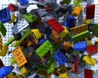 砖塑料玩具 库存例证