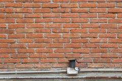 砖墙作为背景使用的块垂直 免版税图库摄影