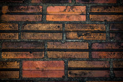 砖墙前面纹理 免版税库存照片