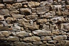 砖墙在意大利 免版税库存图片