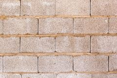 砖墙在房子里作为抽象背景 免版税库存图片