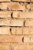 砖墙在房子里作为抽象背景 库存图片