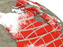 砖墙地球上的加拿大 库存图片