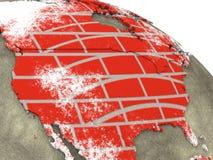 砖墙地球上的加拿大 库存照片