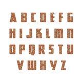 砖墙字母表 免版税库存图片