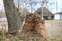 砖墙废墟  库存照片