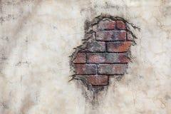 砖墙斑点 库存图片