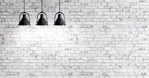 砖墙有灯背景 皇族释放例证