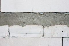 砖墙水泥射线墙壁建筑的 免版税库存照片