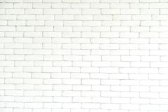 砖墙白色背景和纹理,样式 免版税库存照片