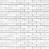 砖墙白色 免版税图库摄影