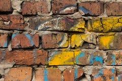 砖墙的片段 免版税库存照片