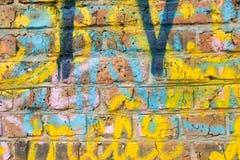 砖墙的片段 库存照片