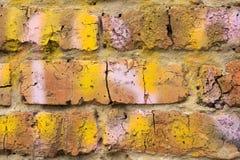 砖墙的片段 免版税图库摄影