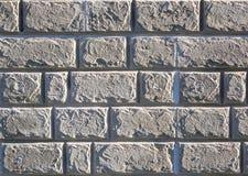 砖墙的纹理在水泥特写镜头下的 库存图片