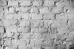 砖墙的纹理 与白色颜色水泥缝的砖砌  免版税库存图片