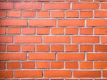 砖墙纹理、砖墙背景、砖墙内部的或外部设计与拷贝空间文本或图象的 红色器官 图库摄影