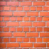 砖墙纹理、砖墙背景、砖墙内部的或外部设计与拷贝空间文本或图象的 红色器官 库存图片