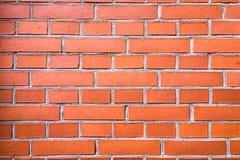 砖墙纹理、砖墙背景、砖墙内部的或外部设计与拷贝空间文本或图象的 红色器官 免版税图库摄影