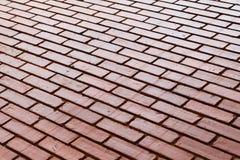 砖墙纹理产业大厦背景材料精读 免版税库存图片