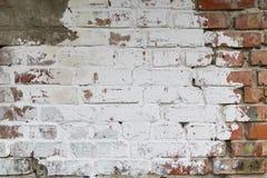 砖墙绘与油漆 库存图片
