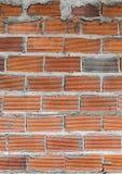 砖墙背景和石头 免版税库存图片