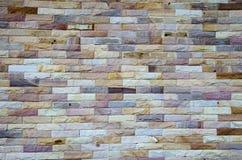 砖墙背景颜色盒 免版税库存照片
