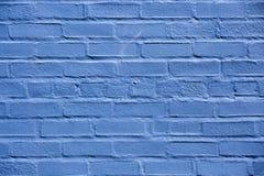 砖墙被绘蓝色在Warrenton弗吉尼亚, 免版税图库摄影