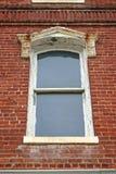 砖墙视窗 免版税库存图片