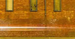 砖墙长的曝光 库存照片