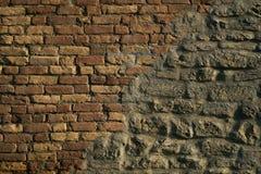 砖墙颜色背景红色纹理 图库摄影