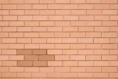 砖墙黄色 免版税库存照片