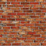 砖墙,与阴影的红色安心纹理 免版税库存照片