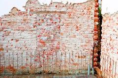 砖墙 免版税图库摄影
