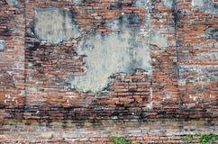 砖墙Wat Puttaisawan背景废墟  库存照片