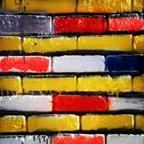 砖多彩多姿的墙壁  图库摄影